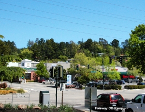 The BevMo parking lot is the first thing that we see when we enter Orinda from the freeway.